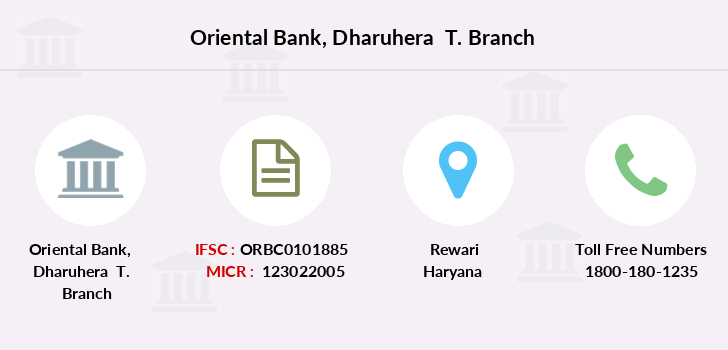 Oriental-bank-of-commerce Dharuhera-t branch