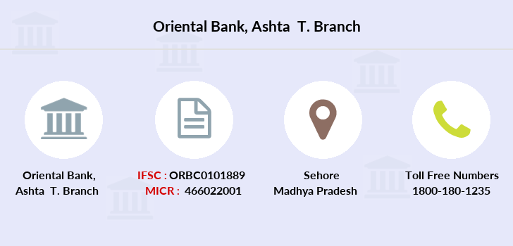 Oriental-bank-of-commerce Ashta-t branch