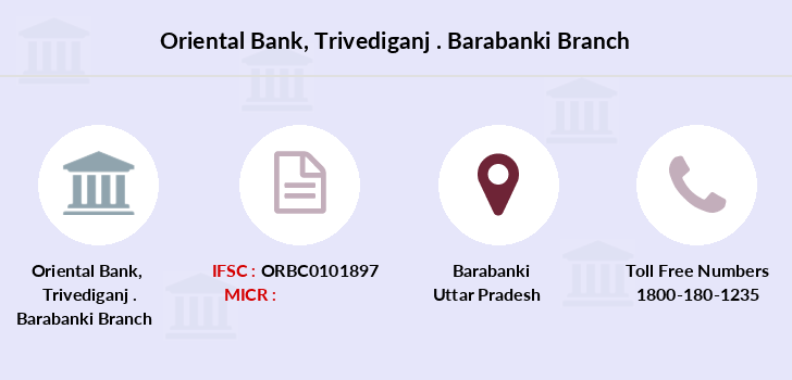 Oriental-bank-of-commerce Trivediganj-barabanki branch