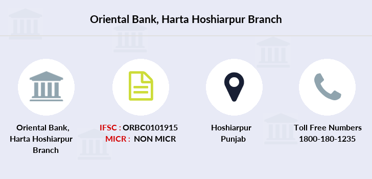 Oriental-bank-of-commerce Harta-hoshiarpur branch