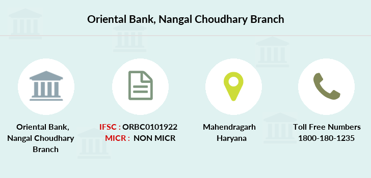 Oriental-bank-of-commerce Nangal-choudhary branch