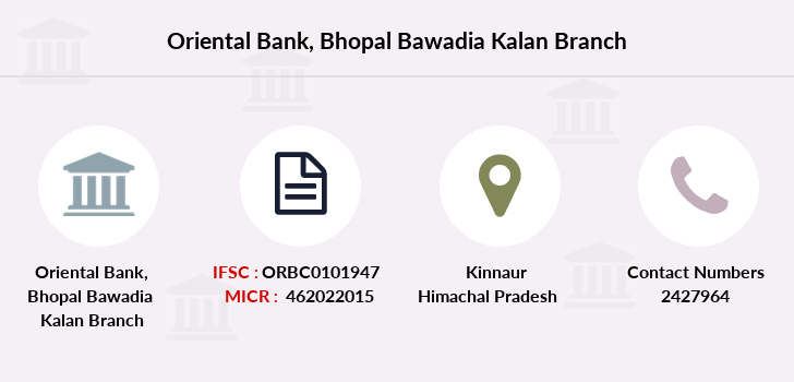 Oriental-bank-of-commerce Bhopal-bawadia-kalan branch