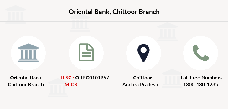 Oriental-bank-of-commerce Chittoor branch