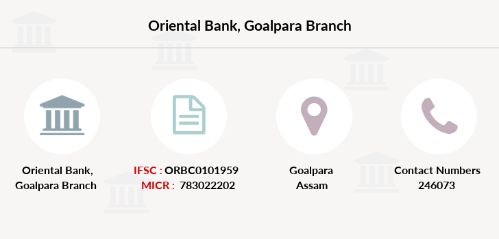 Oriental-bank-of-commerce Goalpara branch