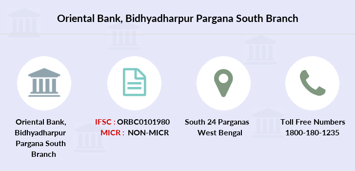 Oriental-bank-of-commerce Bidhyadharpur-pargana-south branch