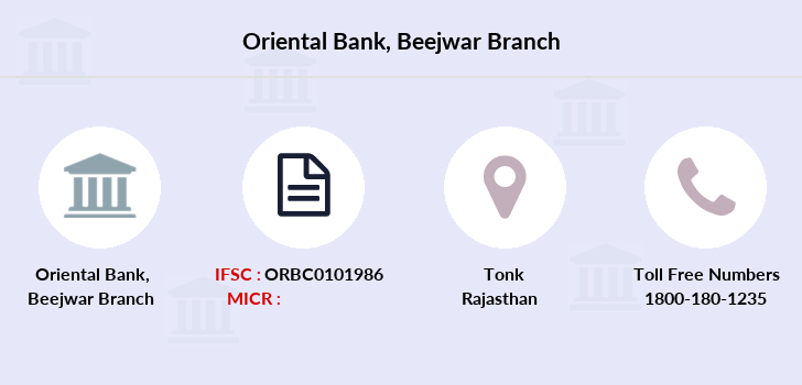 Oriental-bank-of-commerce Beejwar branch