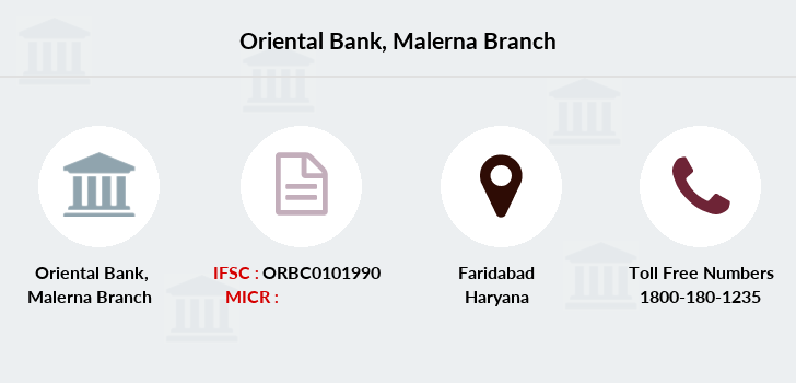 Oriental-bank-of-commerce Malerna-faridabad branch