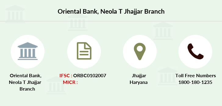 Oriental-bank-of-commerce Neola-jhajjar branch
