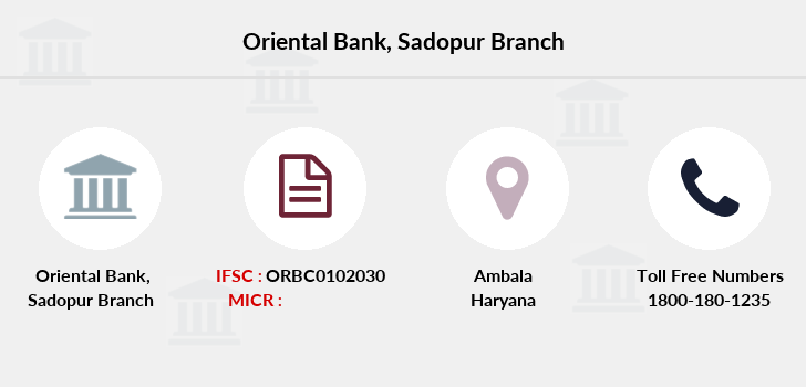Oriental-bank-of-commerce Sadopur branch