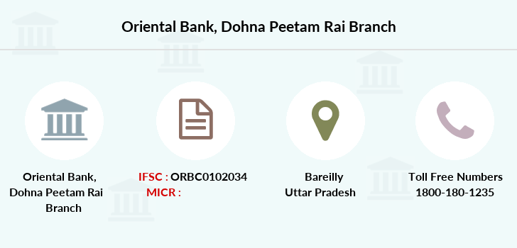 Oriental-bank-of-commerce Dohna-peetam-rai branch