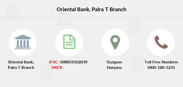 Oriental-bank-of-commerce Palra-gurgaon branch