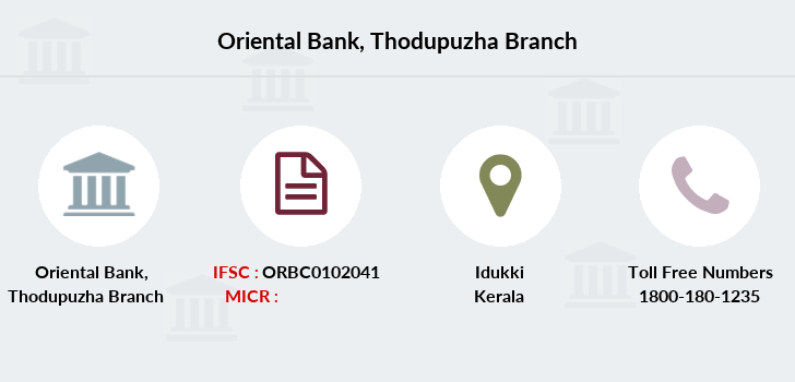 Oriental-bank-of-commerce Thodupuzha branch