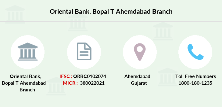 Oriental-bank-of-commerce Bopal-t-ahemdabad branch
