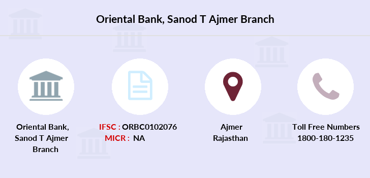 Oriental-bank-of-commerce Sanod-ajmer branch