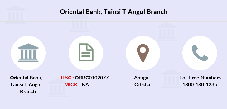 Oriental-bank-of-commerce Tainsi-t-angul branch