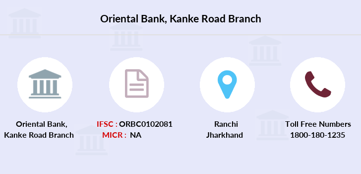 Oriental-bank-of-commerce Kanke-road-ranchi branch