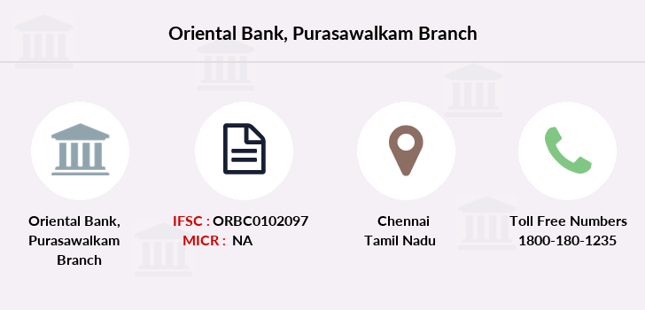 Oriental-bank-of-commerce Purasawalkam branch