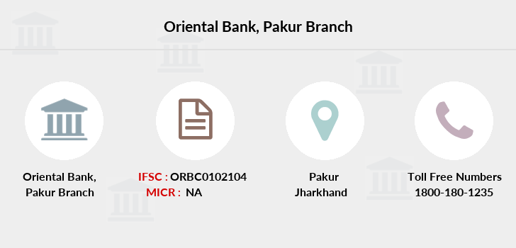 Oriental-bank-of-commerce Pakur branch