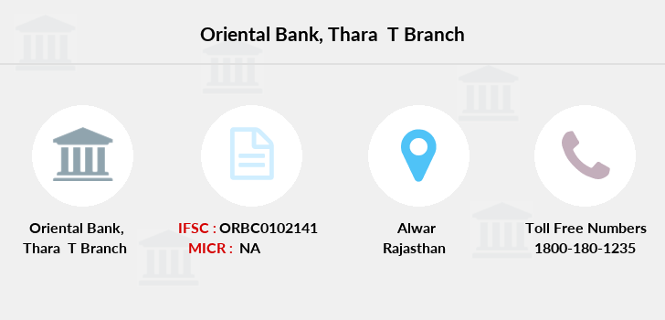 Oriental-bank-of-commerce Thara-alwar branch