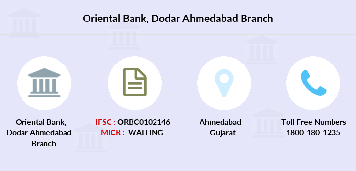 Oriental-bank-of-commerce Dodar-ahmedabad branch