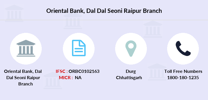 Oriental-bank-of-commerce Dal-dal-seoni-raipur branch