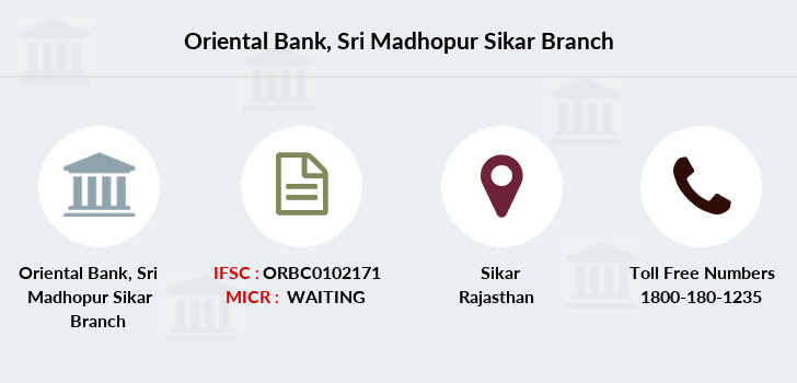 Oriental-bank-of-commerce Sri-madhopur-sikar branch