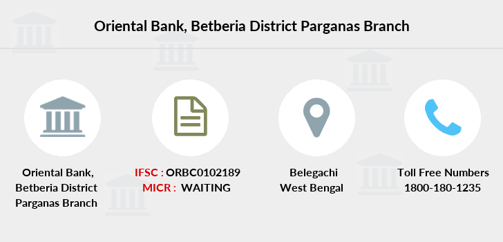 Oriental-bank-of-commerce Betberia-district-parganas branch