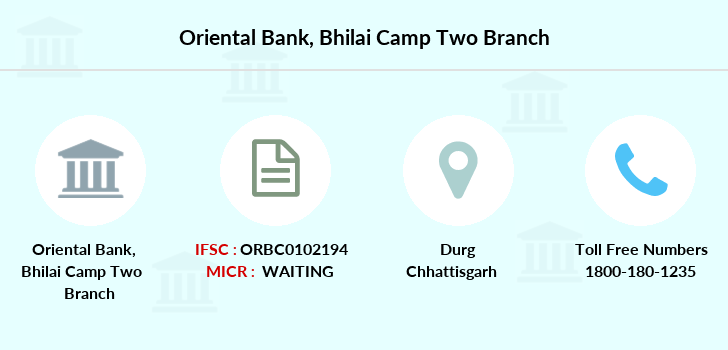 Oriental-bank-of-commerce Bhilai-camp-two branch