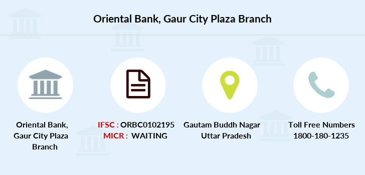Oriental-bank-of-commerce Gaur-city-plaza branch