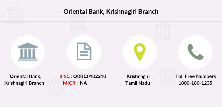 Oriental-bank-of-commerce Krishnagiri branch