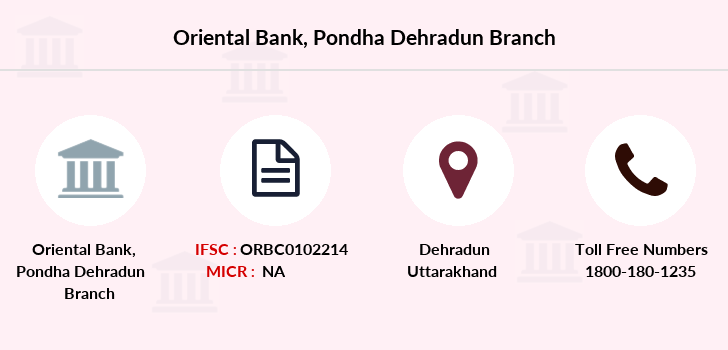 Oriental-bank-of-commerce Pondha-dehradun branch