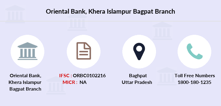 Oriental-bank-of-commerce Khera-islampur-bagpat branch