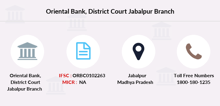 Oriental-bank-of-commerce District-court-jabalpur branch
