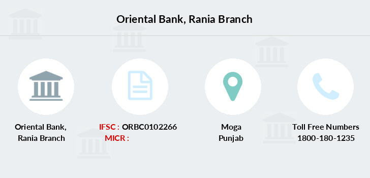 Oriental-bank-of-commerce Rania branch