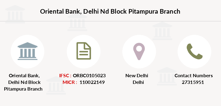 Oriental-bank-of-commerce Delhi-nd-block-pitampura branch