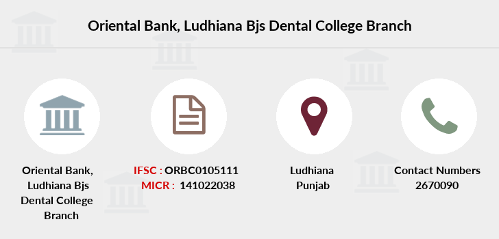 Oriental-bank-of-commerce Ludhiana-bjs-dental-college branch