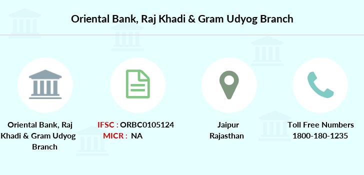 Oriental-bank-of-commerce Raj-khadi-gram-udyog branch