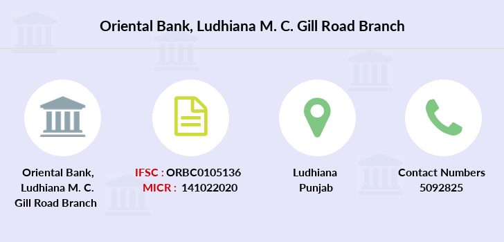 Oriental-bank-of-commerce Ludhiana-m-c-gill-road branch