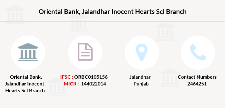 Oriental-bank-of-commerce Jalandhar-inocent-hearts-scl branch