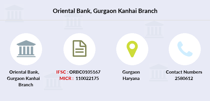 Oriental-bank-of-commerce Gurgaon-kanhai branch