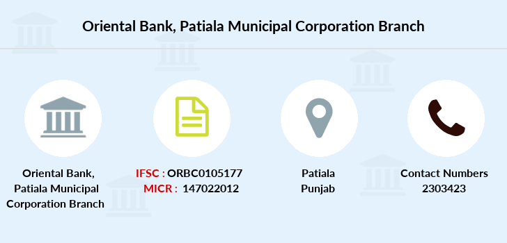 Oriental-bank-of-commerce Patiala-municipal-corporation branch