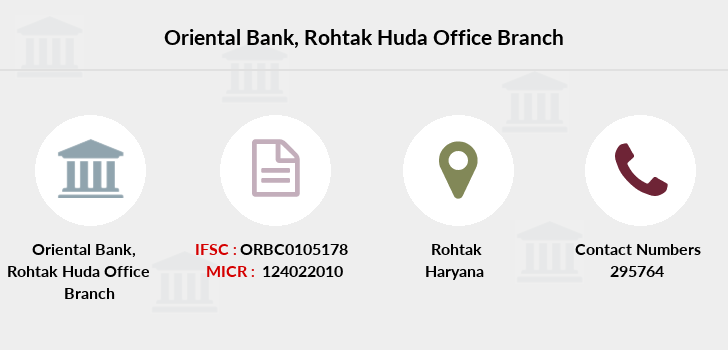Oriental-bank-of-commerce Rohtak-huda-office branch