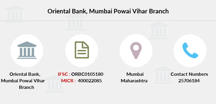 Oriental-bank-of-commerce Mumbai-powai-vihar branch