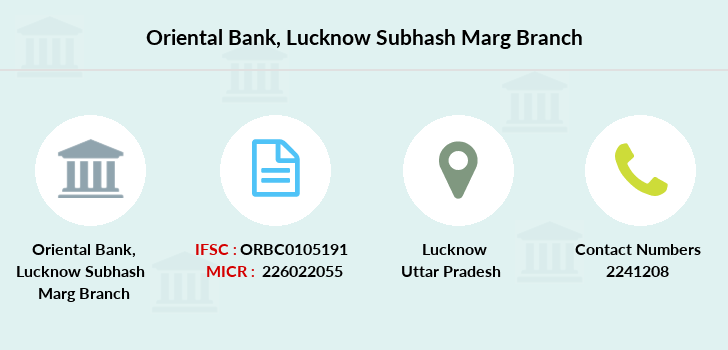 Oriental-bank-of-commerce Lucknow-subhash-marg branch
