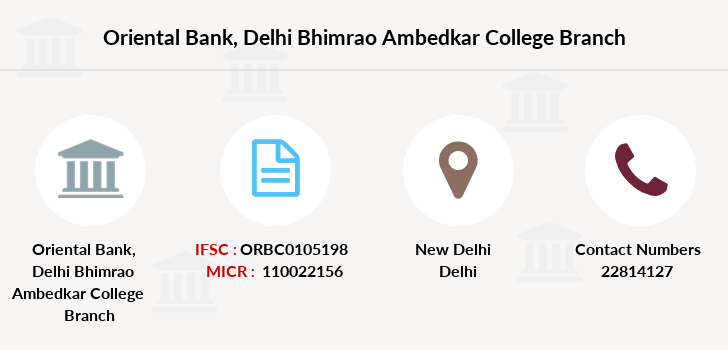 Oriental-bank-of-commerce Delhi-bhimrao-ambedkar-college branch