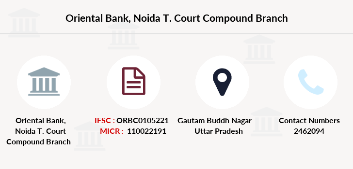Oriental-bank-of-commerce Noida-t-court-compound branch