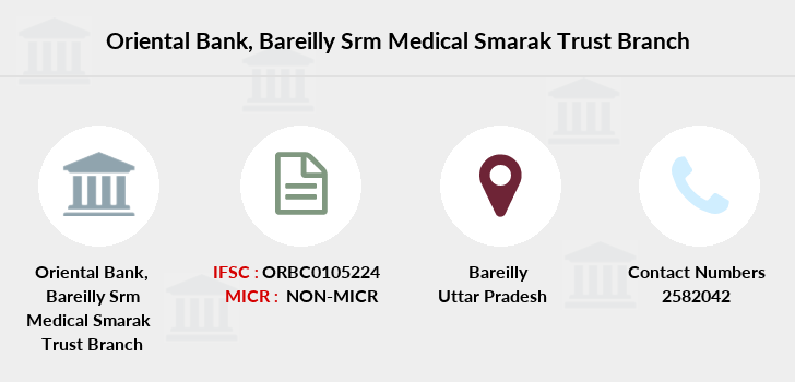 Oriental-bank-of-commerce Bareilly-srm-medical-smarak-trust branch