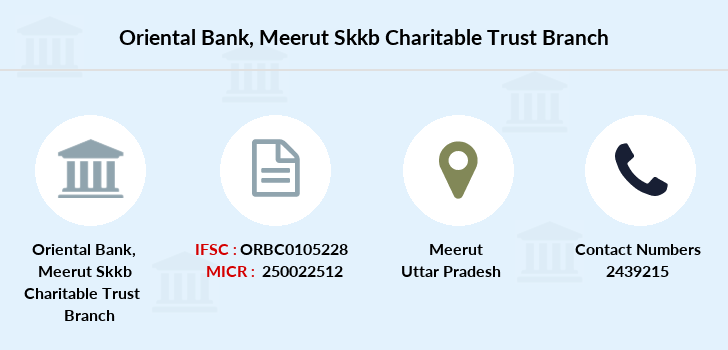 Oriental-bank-of-commerce Meerut-skkb-charitable-trust branch