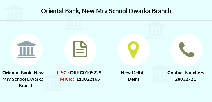 Oriental-bank-of-commerce New-mrv-school-dwarka branch