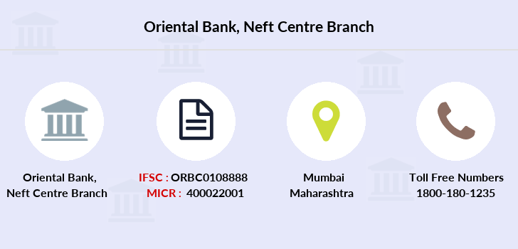 Oriental-bank-of-commerce Neft-centre branch
